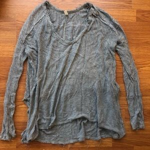 S soft Free People waffle knit layering thermal